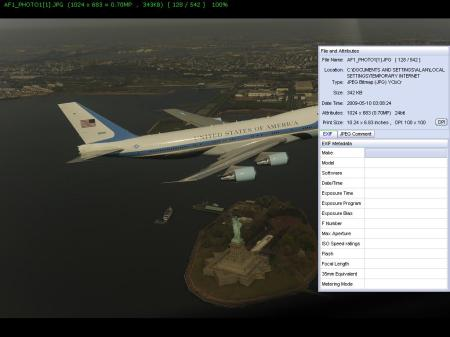 Air Force One with Exif info missing