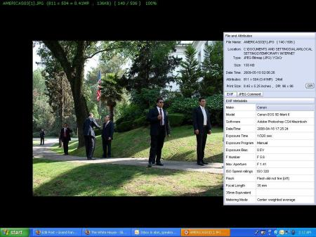 POTUS Security with Exif