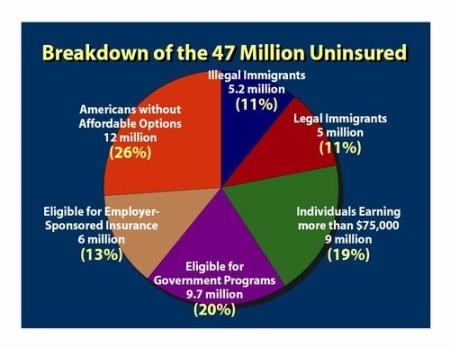 Risch chart of uninsured