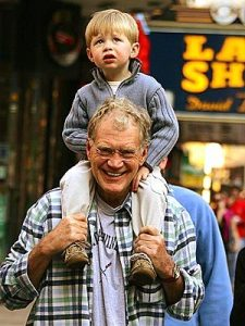 Letterman with son Harry